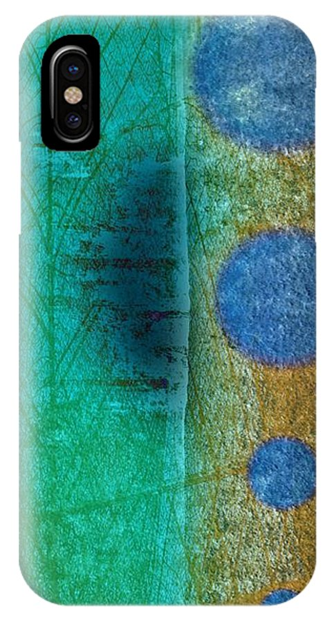 Abstract IPhone X Case featuring the painting Nature by Anne Costello