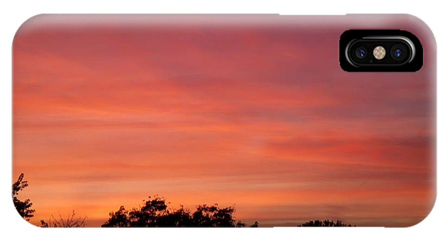 Sunset IPhone X / XS Case featuring the photograph Natures Paint by Aimee L Maher ALM GALLERY