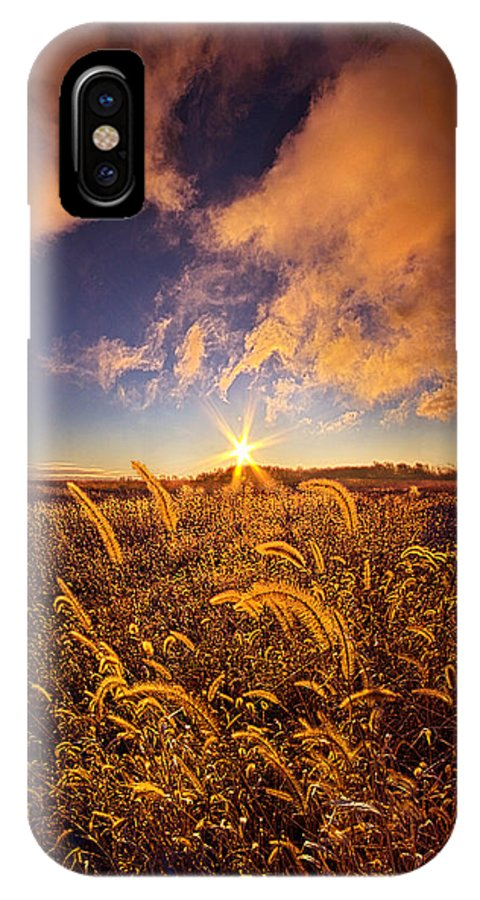 Autumn IPhone X / XS Case featuring the photograph Nature's Romm With A View by Phil Koch