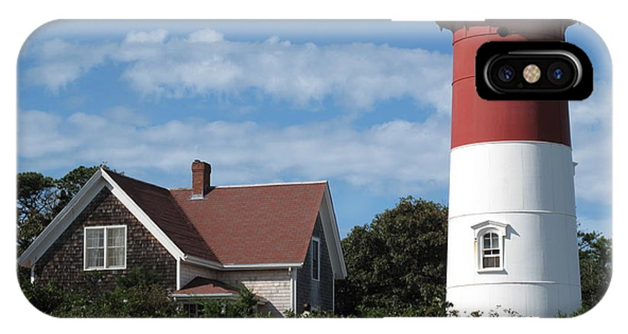 Nauset IPhone X Case featuring the photograph Nauset Light by Barbara McDevitt