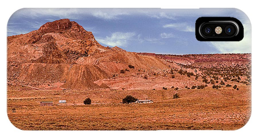 Anasazi IPhone X Case featuring the photograph Navajo Nation Series Along Arizona Highways by Bob and Nadine Johnston