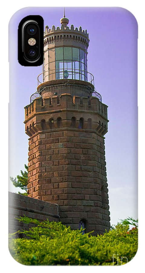Lighthouses IPhone X Case featuring the photograph Navesink Twin Lights Lighthouse by Anthony Sacco
