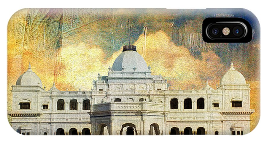 Pakistan IPhone X / XS Case featuring the painting Nawab's Palace by Catf