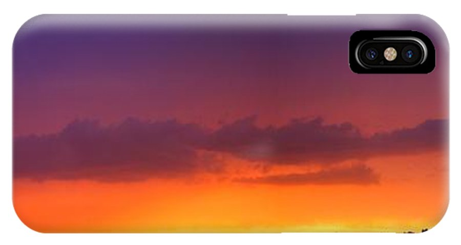 Stormscape IPhone X Case featuring the photograph Nebraska Thunderstorm Sunset by NebraskaSC
