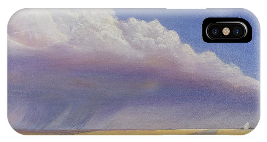 Landscape IPhone X Case featuring the painting Nebraska Vista by Jerry McElroy