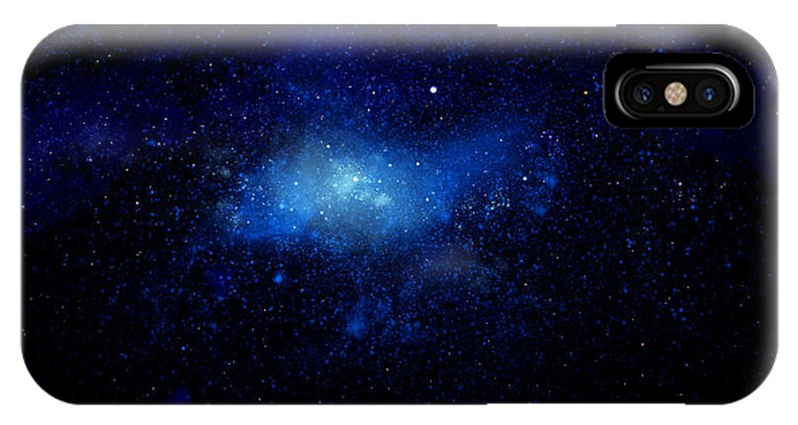 Nebula Ceiling Mural IPhone X Case featuring the painting Nebula Ceiling Mural by Frank Wilson