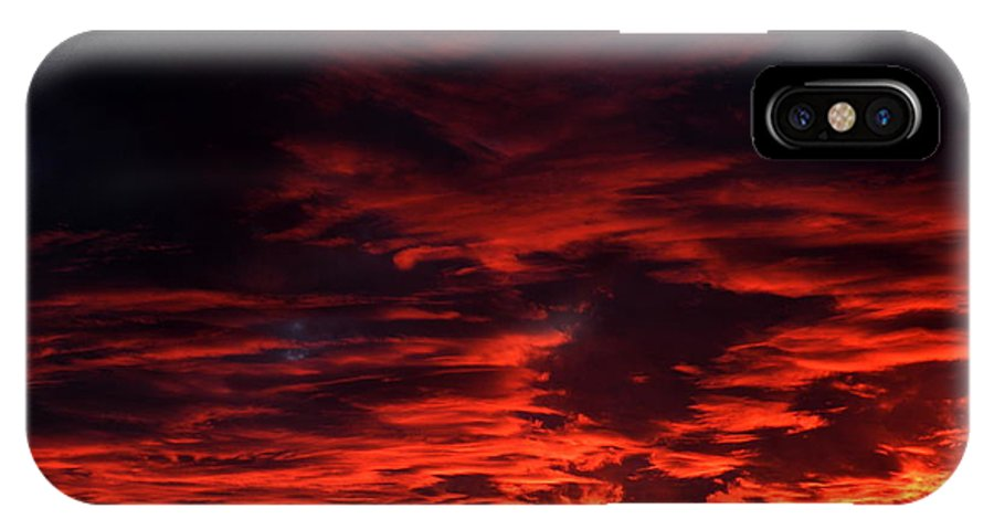 Sky IPhone X Case featuring the photograph Nebular Sonata by M Pace