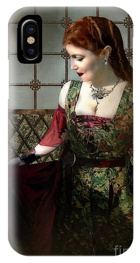Historical IPhone X / XS Case featuring the painting Nell Gwynn Meets The King by RC DeWinter