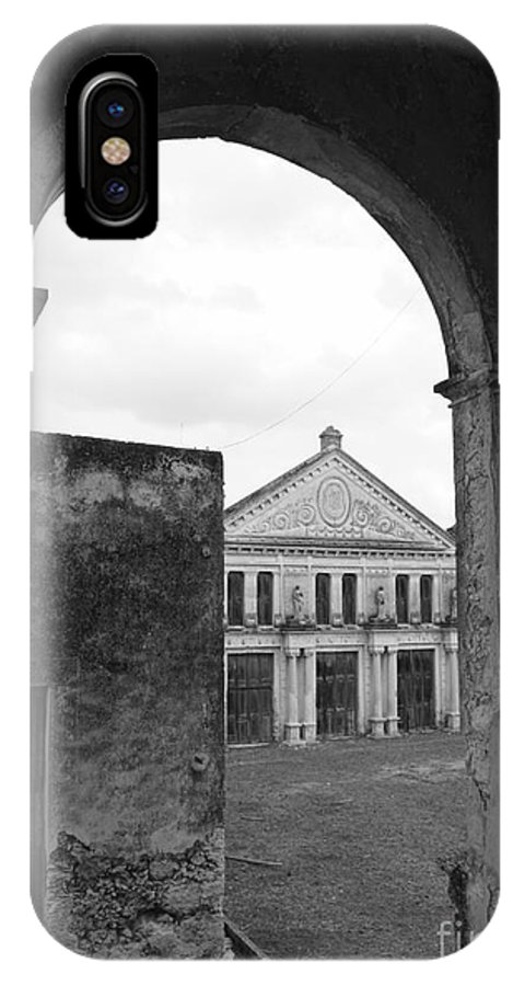 Mexico IPhone X Case featuring the photograph Neoclassical Storehouse And Arch Yaxcopoil Mexico by John Mitchell