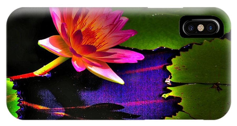 Flower IPhone X Case featuring the photograph Neon Lily by John Absher
