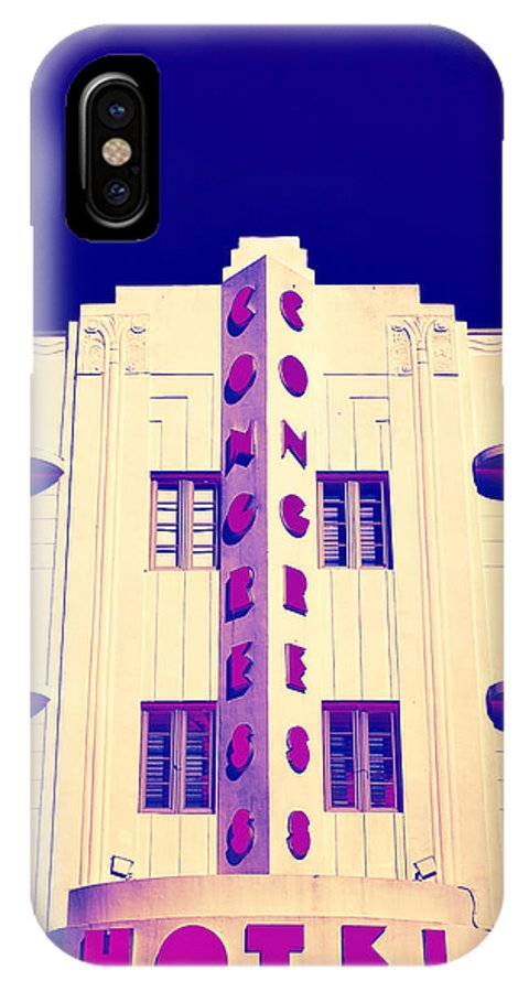 Art Deco IPhone X Case featuring the photograph Neon Soul - 21 by Michael Guirguis