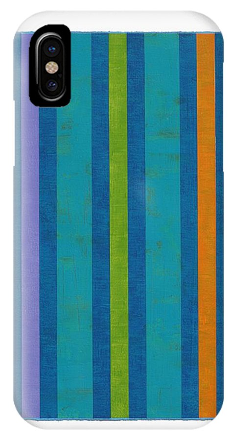 Geometric Abstraction IPhone X Case featuring the painting Neon Stripes IIi by Amy Van Helden