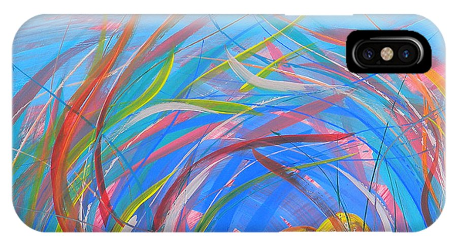 Nest IPhone X Case featuring the painting Nest Of Prosperity 11 by Pam Van Londen