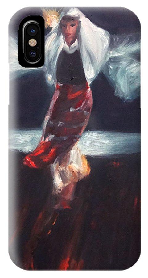 Nestinarka IPhone X Case featuring the painting Nestinarka by Viliana Atanasova