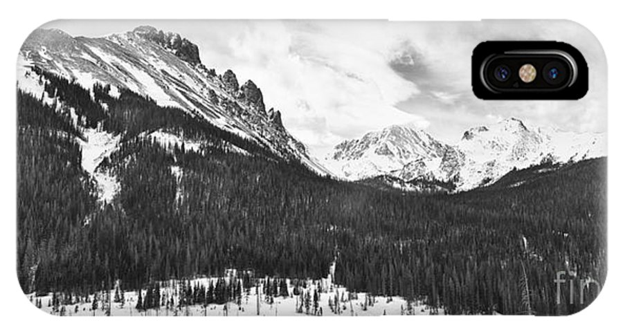 Never Summer Wilderness IPhone X Case featuring the photograph Never Summer Wilderness Area Panorama Bw by James BO Insogna