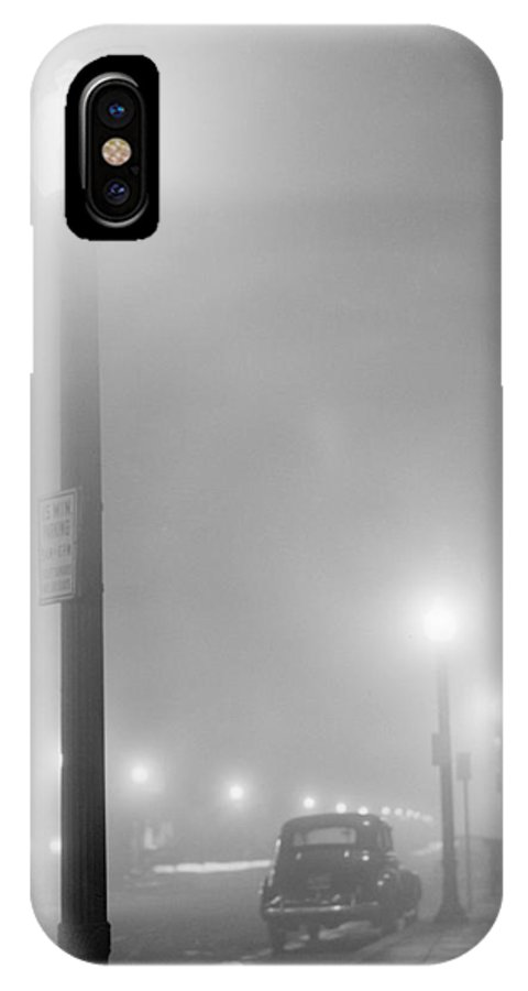 1941 IPhone X Case featuring the photograph New Bedford, 1941 by Granger
