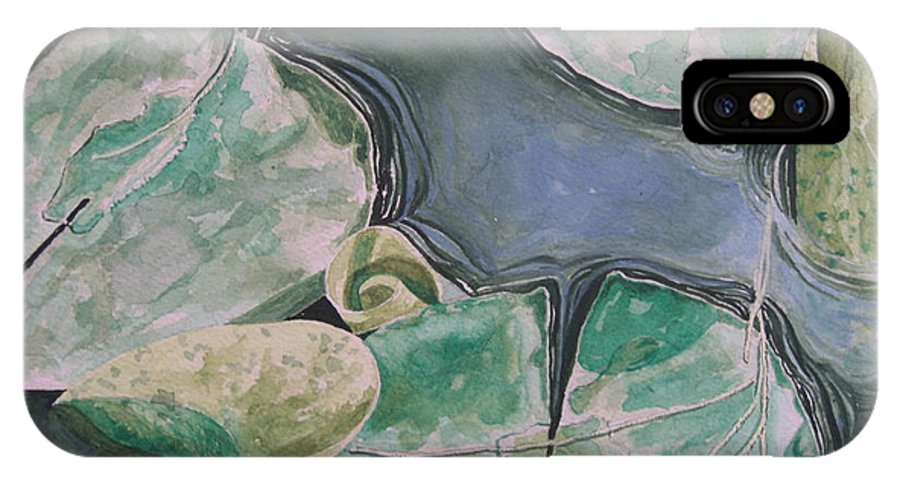 Water IPhone X Case featuring the painting New Beginings by John Wilson