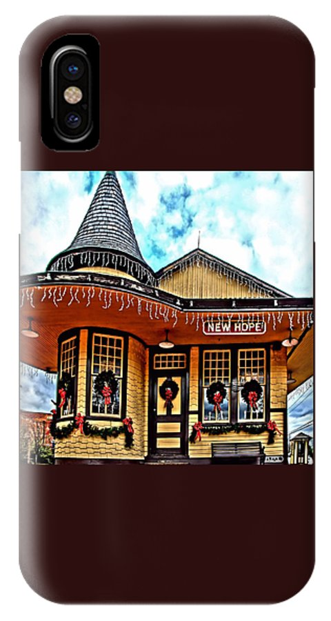 Djphoto IPhone X Case featuring the photograph New Hope Station by DJ Florek
