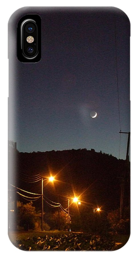IPhone X Case featuring the photograph New Moon by Katerina Naumenko