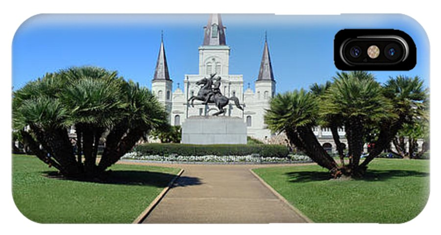 Jackson Square IPhone X Case featuring the photograph New Orleans - Jackson's Square by Randy Smith