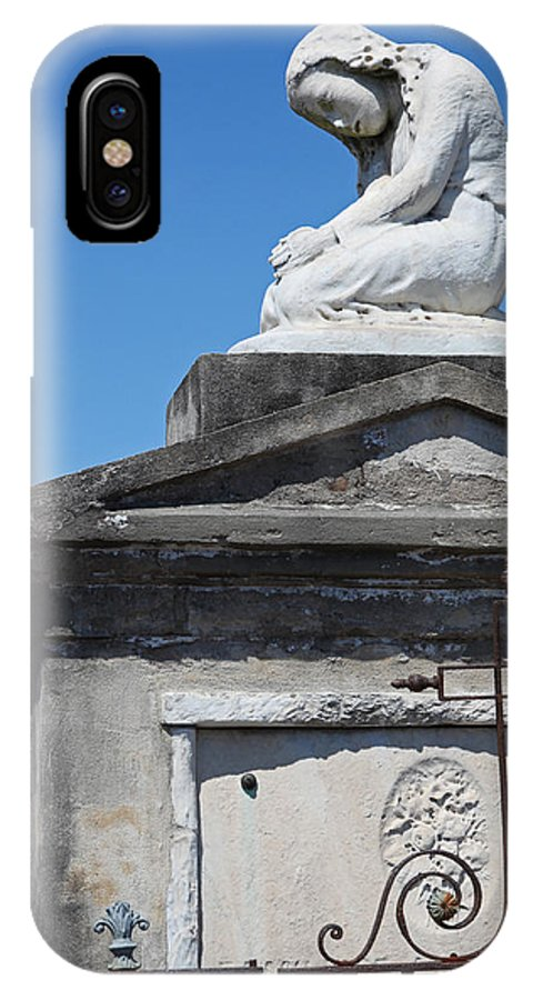 Gothic IPhone X Case featuring the photograph New Orleans Louis Stone Freeze by Joseph Semary