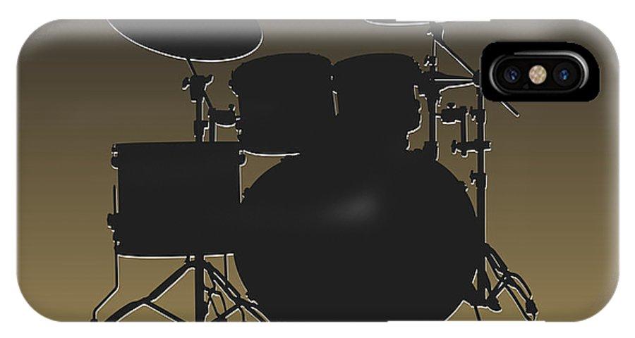 Saints IPhone X / XS Case featuring the photograph New Orleans Saints Drum Set by Joe Hamilton