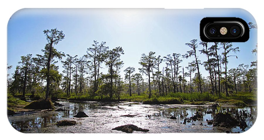 Gothic IPhone X Case featuring the photograph New Orleans Swamp Untouched by Joseph Semary