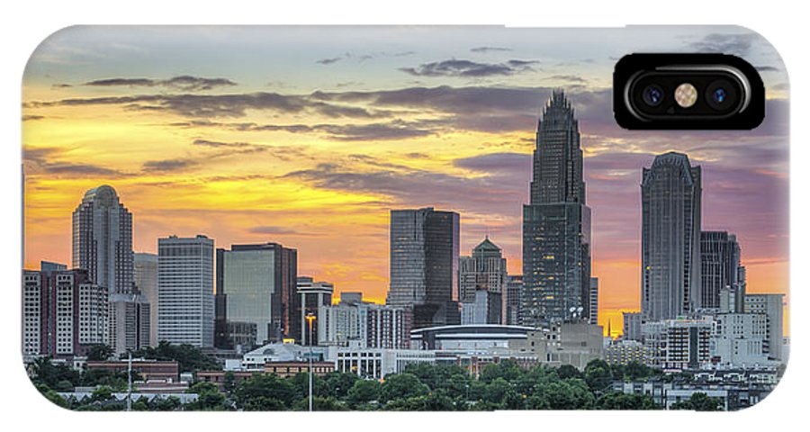 Charlotte IPhone X Case featuring the photograph New South Summer Sunset by Brian Young