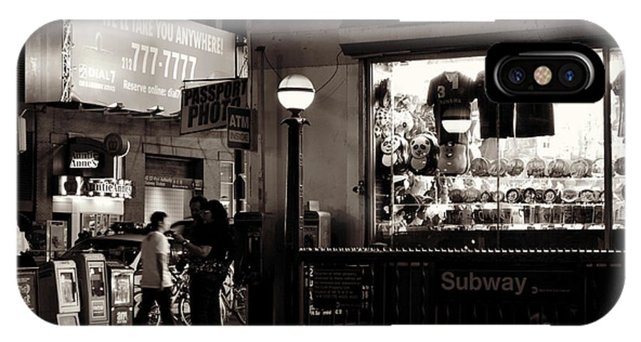 New York City At Night IPhone X Case featuring the photograph Nighthawks Of New York - Subway by Miriam Danar