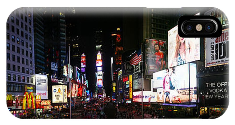 Broadway IPhone X Case featuring the photograph New York - Broadway And Times Square by Randy Smith