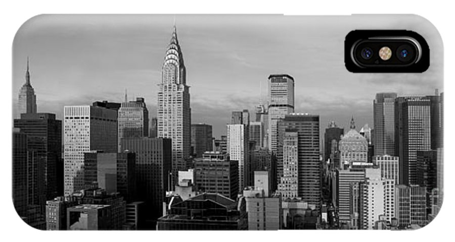 New York IPhone X Case featuring the photograph New York City Skyline by Diane Diederich