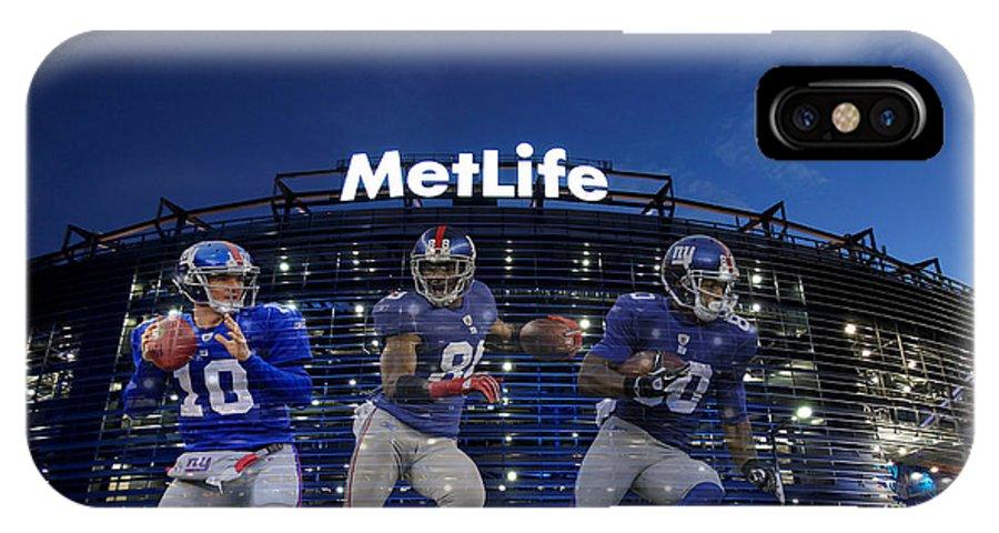 Giants IPhone X Case featuring the photograph New York Giants Metlife Stadium by Joe Hamilton