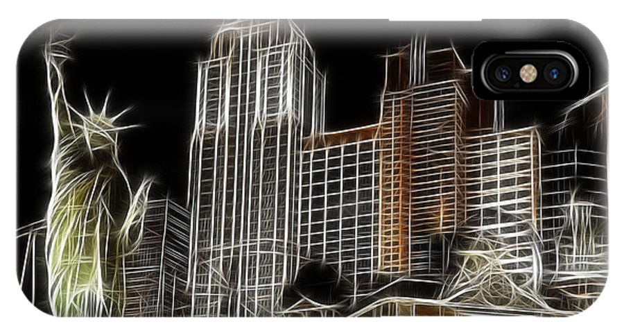 New York IPhone X Case featuring the photograph New York New York In Las Vegas by Bob Christopher
