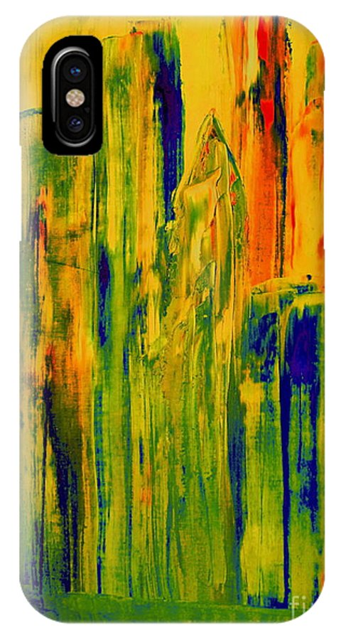 Bill IPhone X Case featuring the painting New York On A Hot June Morning by Bill OConnor