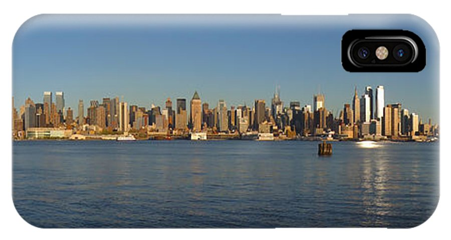 New York Skyline IPhone X Case featuring the photograph New York - Skyline Of New York by Randy Smith