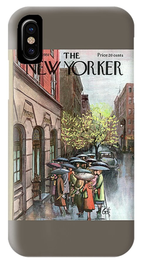 Urban IPhone X Case featuring the painting New Yorker April 21st, 1951 by Arthur Getz