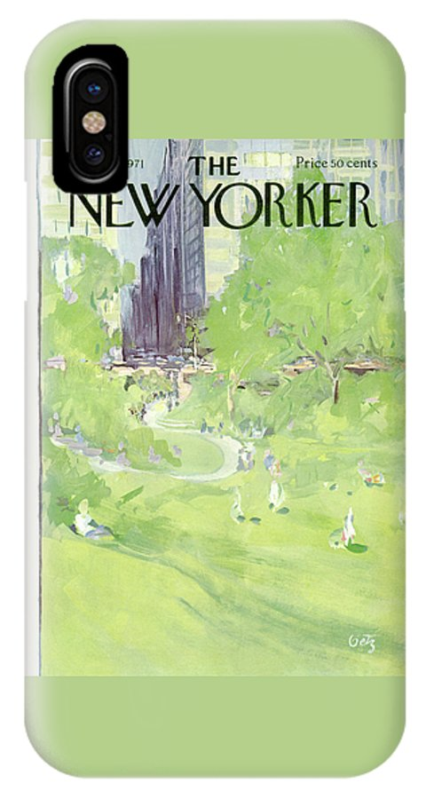 Urban IPhone X Case featuring the painting New Yorker April 24th, 1971 by Arthur Getz
