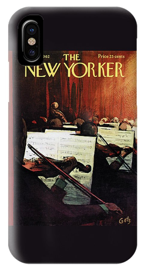 Concert IPhone X Case featuring the painting New Yorker April 28th, 1962 by Arthur Getz