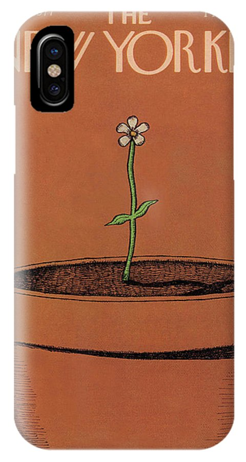 Gardening IPhone X Case featuring the painting New Yorker April 4th, 1977 by Robert Tallon
