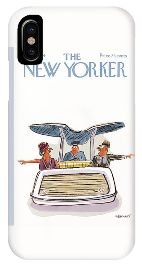 Frank Modell Fmo IPhone X Case featuring the painting New Yorker August 1st, 1964 by Frank Modell