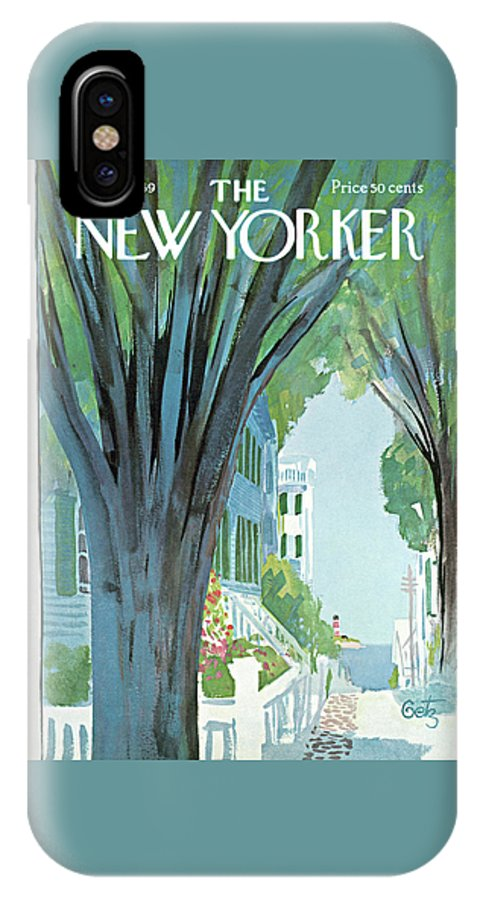Arthur Getz Agt IPhone X Case featuring the painting New Yorker August 30th, 1969 by Arthur Getz