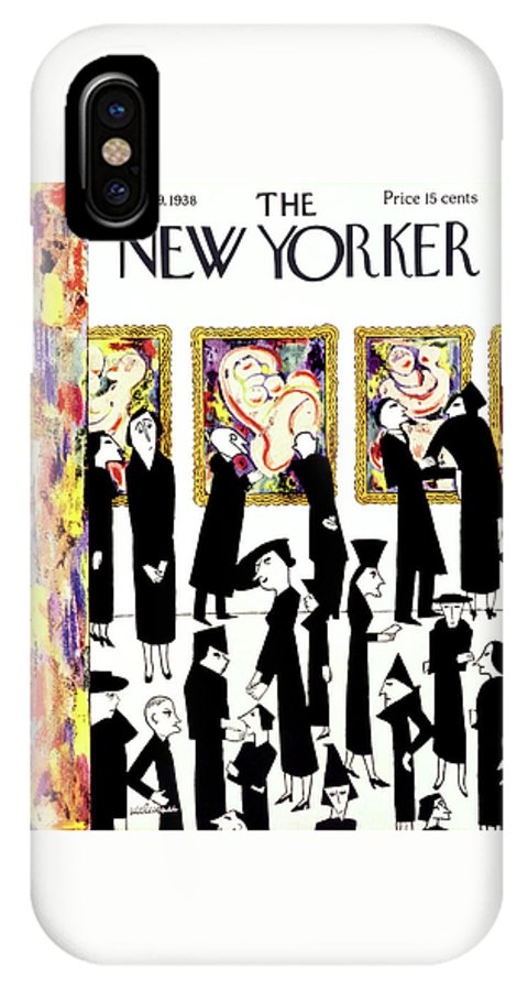 Art IPhone X Case featuring the painting New Yorker January 29 1938 by Christina Malman