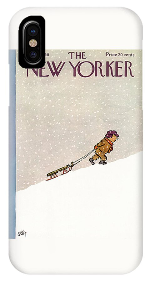 Age IPhone X Case featuring the painting New Yorker January 7th, 1956 by William Steig