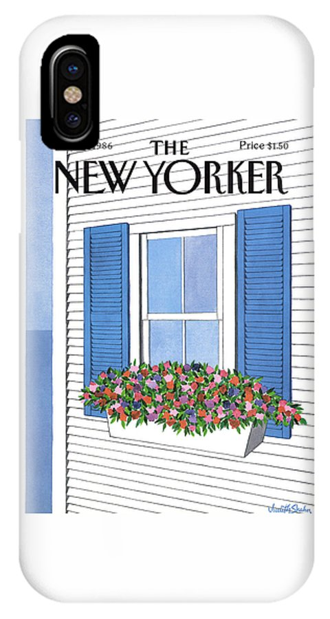 House IPhone X Case featuring the painting New Yorker July 28th, 1986 by Judith Shahn