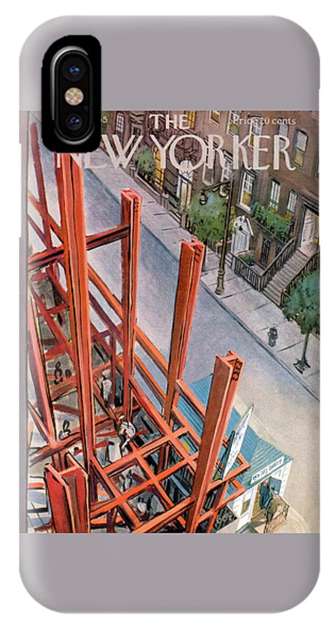 Urban IPhone X Case featuring the painting New Yorker July 9th, 1955 by Arthur Getz
