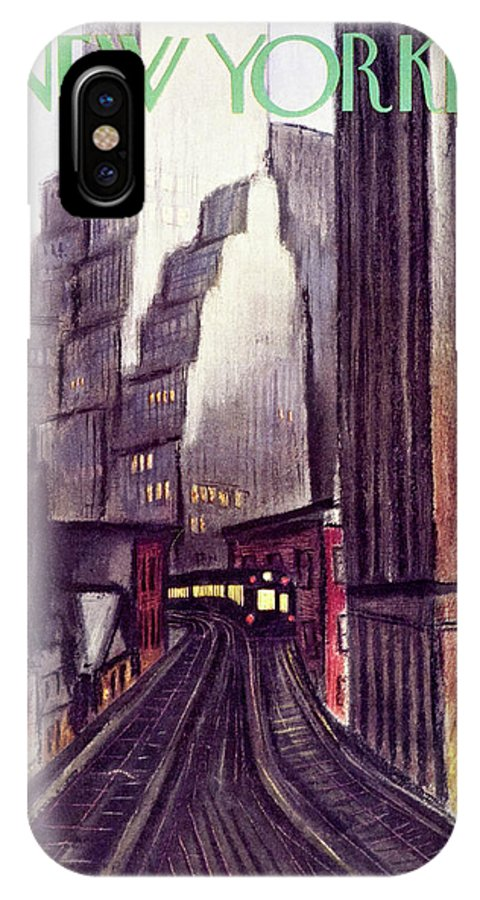 Illustration IPhone X Case featuring the painting New Yorker June 15 1940 by Victor De Pauw