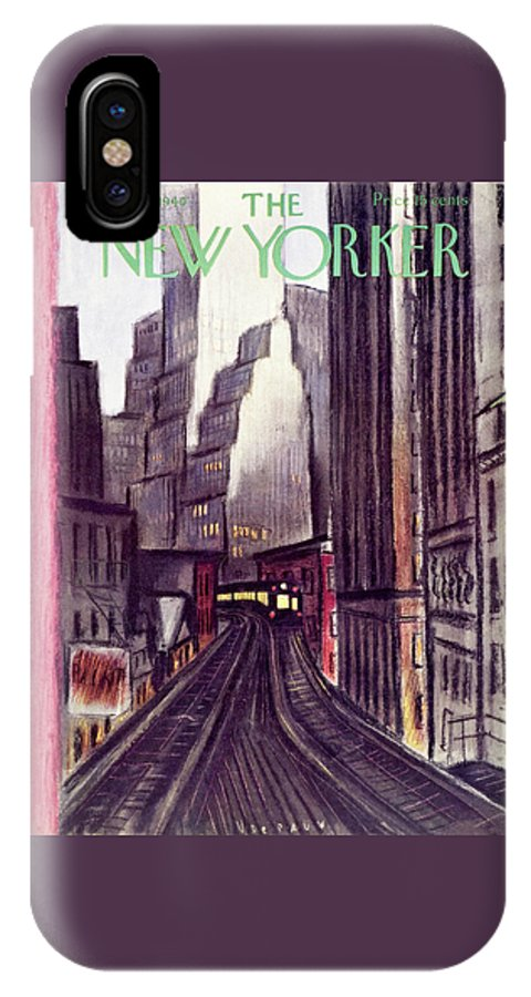 Travel IPhone X Case featuring the painting New Yorker June 15 1940 by Victor De Pauw