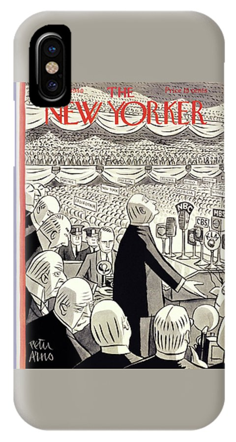 Religion IPhone X Case featuring the painting New Yorker June 22 1940 by Peter Arno