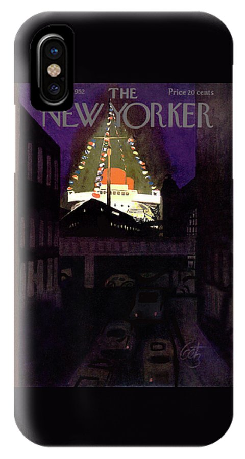 Urban IPhone X Case featuring the painting New Yorker June 28th, 1952 by Arthur Getz
