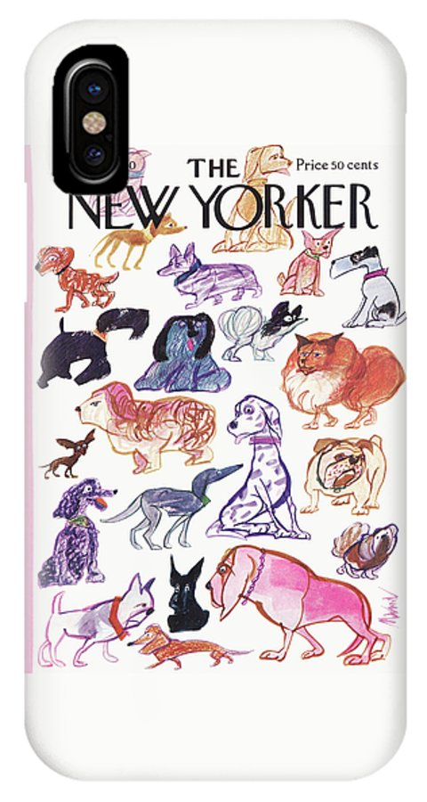 Animals IPhone X Case featuring the painting New Yorker March 21st, 1970 by Kenneth Mahood